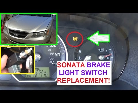 How To Replace The Brake Light Switch On Hyundai Sonata 2006 2007 2008 2009 2010 Abs Esc Light