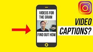 How To Make Video SUBTITLES For Instagram? (Like GARYVEE)