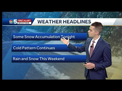 Video: Snow showers on Wednesday morning (10-23-18)