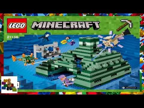 Lego Instructions Minecraft 21136 The Ocean Monument Book 4