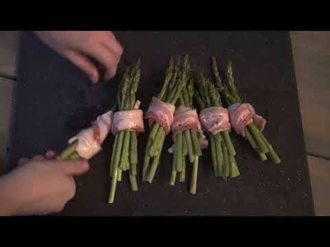 Charred Bacon Wrapped Asparagus