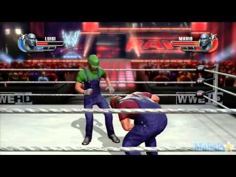 WWE ศึกมวยปล้ำที่โหดที่สุด   Mario Vs  Luigi