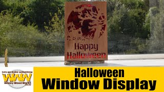 Simply Wooden Creations Scroll Saw Artist Contest 2015 - Halloween Window Display - Wacky Wood Works