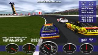 NASCAR Revolution PC Race #28 Gameplay (Kenny Wallace) (Atlanta) (9 Laps)