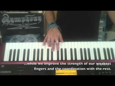 Keyboard Exercise #3 - Riff with Ring & Pinky finger improvement. by S4K Team - JoeAtlan