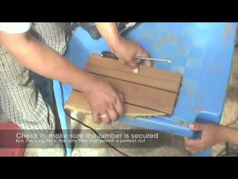 Eco Decking Tiles Cutting Instruction Video