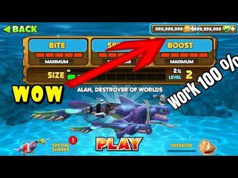 Cara Cheat Hungry Shark 999999999 Gold Dan Diamond How To Cheat Hungry Shark Youtube