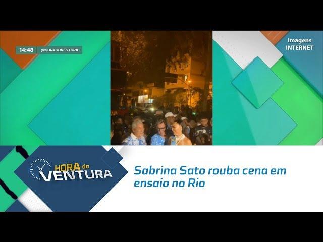 Sabrina Sato' Rainha da Escola de Samba Vila Isabel' rouba cena em ensaio no Rio - Bloco 02
