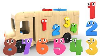 Learn Numbers with Wooden Truck Toy - Numbers Videos Collection for Children