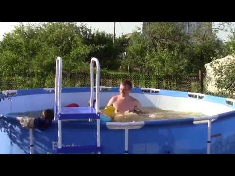 Каркасный бассейн BESTWAY. Установка, купание и отдых.