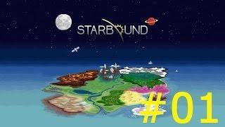 Starbound 01 Абаддон Разоритель и монстры в желтых бикини