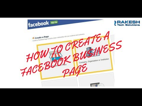 how to create a facebook page for business 2017