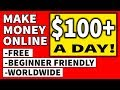 How To MAKE MONEY ONLINE For Free 🔥💰$100 A DAY!!!💰🔥 WORLDWIDE & EASY!