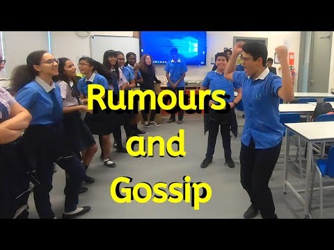 Demonstration of how Rumours and Gossip spread at school