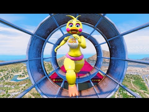 TOY ANIMATRONICS ULTIMATE DEATHRUN! (GTA 5 Mods For Kids FNAF Funny Moment) RedHatter