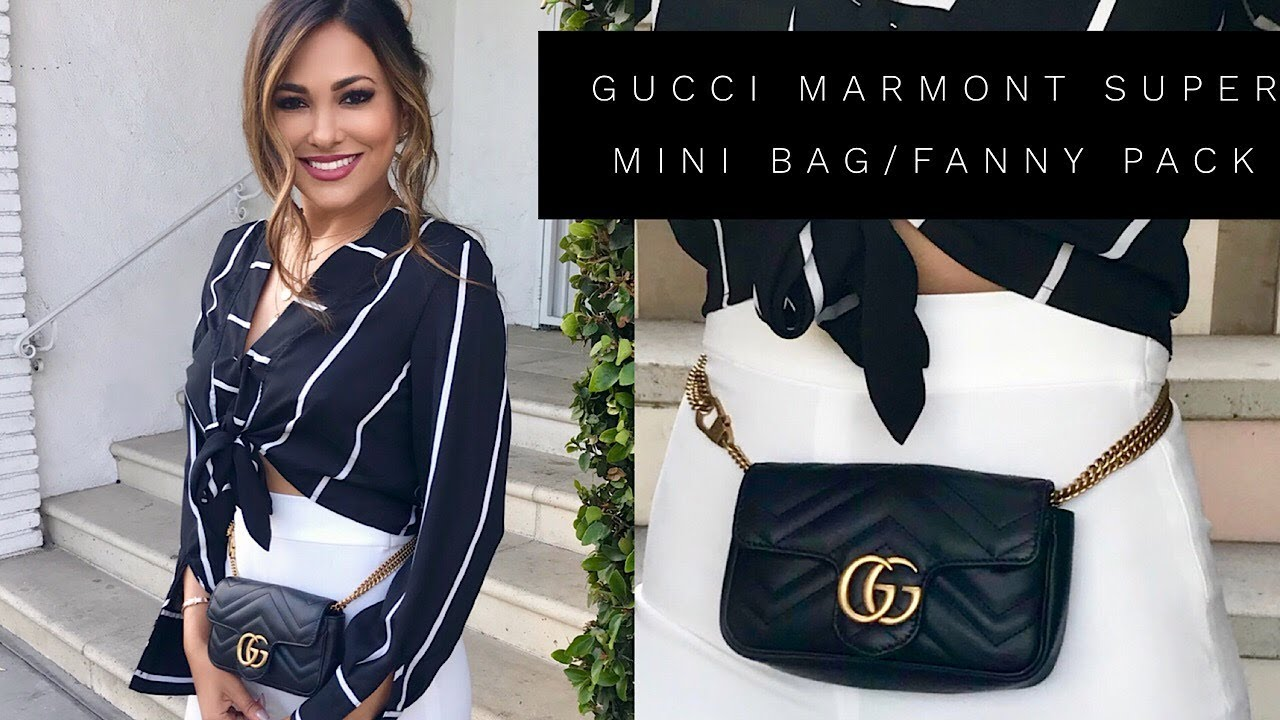 5be03cb7c8cbf8 GUCCI SUPER MINI BAG & FANNY PACK REVIEW | Lina Noory - YouTube