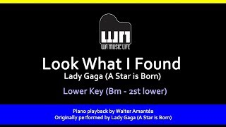 Look What I Found (A Star is Born) - Lower Key - Piano playback for Cover / Karaoke Video
