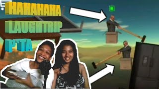GETTING OVER IT - MULTIPLAYER (personbox hammer jump) TAGALOG