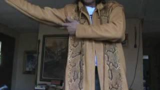 anaconda elkhide leather duster trenchcoat by the desert artist