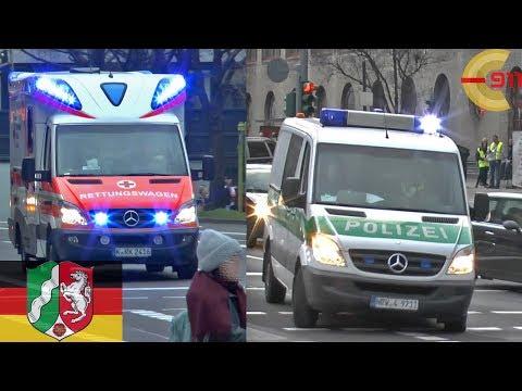 [KÖLN] Gefkw + RTWs auf Einsatzfahrt an Altweiber - Prisoner bus code 3