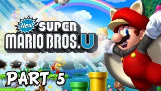 New Super Mario Bros. Wii U Walkthrough - Part 5 Stoneslide Tower Let's Play WiiU Gameplay