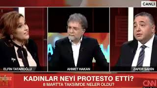 Elfin Tataroğlu, Zafer Şahin'in söylediği sözler sonrası CNN Türk canlı yayınını terk etti.