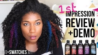 Loreal Liquid Hair Chalk First Impression Review, Demo + Swatches | Natural Hair