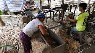 Bamboo Chopstick Factory - How It's Made Vietnam