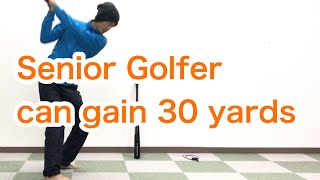 Golf / Driver / Senior / Gain Distance with circular motion :  [Golf Swing Kinematics Japan]