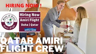 HOW TO BECOME VIP FLIGHT ATTENDANT  HOW TO APPLY FOR QATAR AMIRI   VACANCY FOR EXPERINCED CABIN CREW