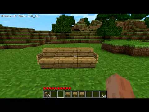 Minecraft How to make a chair/couch - YouTube