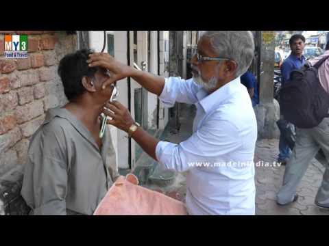 STREET SALON | ROAD SIDE SHAVING | TRADITIONAL SALON |  SHAVING ON MUMBAI STREETS