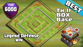 Best Th11 Legend Defense Base 2017 Replay | Th11 BOX Base/6000 Trophy Base/Anti Everythings