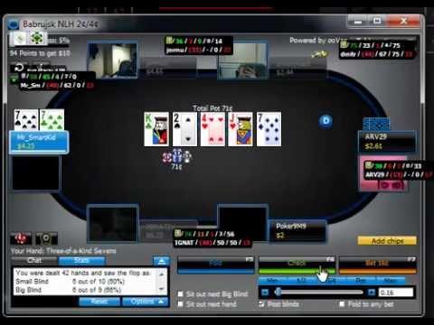 Как не надо играть онлайн покер !!!