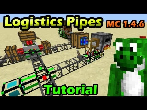 Tutorial Logistic's Pipes - Minecraft 1.4.6