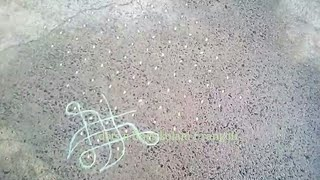 sikku kolam | simple kambi / neli kolams | tippudu muggulu with 13 dots | tangled rangoli pattern