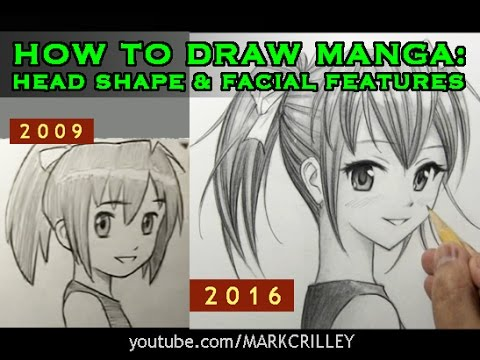How to draw manga head shape facial features 2016 youtube ccuart Image collections