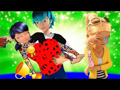Miraculous Ladybug TATTOO Design Contest at School with Marinette and Chloe