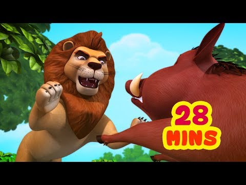 The Lion and the Boar Story   Kids Moral Stories Collection