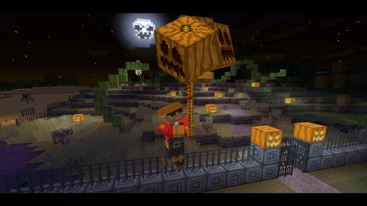 2 command halloween decoration creation happy halloween minecraft youtube. Black Bedroom Furniture Sets. Home Design Ideas