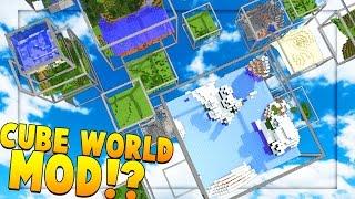 Minecraft CUBE LAND MOD (CUBE BIOMES) Challenge | JeromeASF