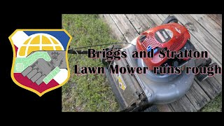 lawn mower runs rough briggs and stratton 10t800 craftsman silver poulan 300 450 475 500 550 4k