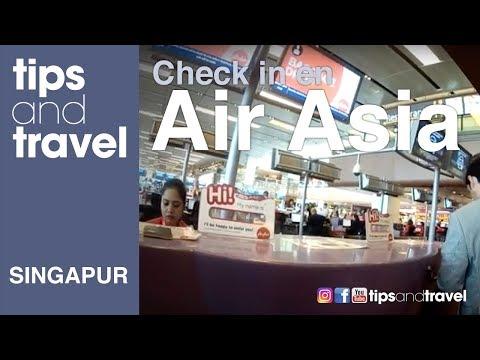 Check in AIR ASIA en aeropuerto Singapur