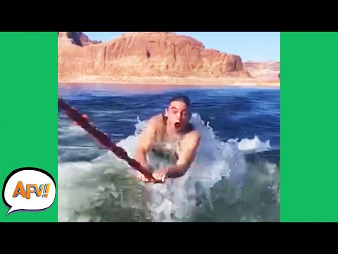 When You CAN'T LET GO of the FAIL! 😂 | Best Funny Water Fails | AFV 2021