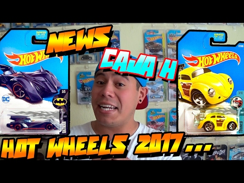 HOT WHEELS 2017 CAJA/CASE H - NOTICIAS/NEWS