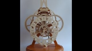 Colossus Wooden Gear Clock