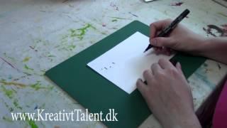 Lær at skrive kalligrafi - Bogstavet B