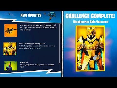 NEW BLOCKBUSTER SKIN *LEAKED* INFO! - Fortnite Battle Royale Blockbuster Skin Unlocked