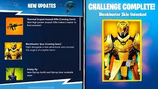 NEW BLOCKBUSTER SKIN *LEAKED* INFO! - Fortnite Battle Royale Blockbuster Skin Unlocked