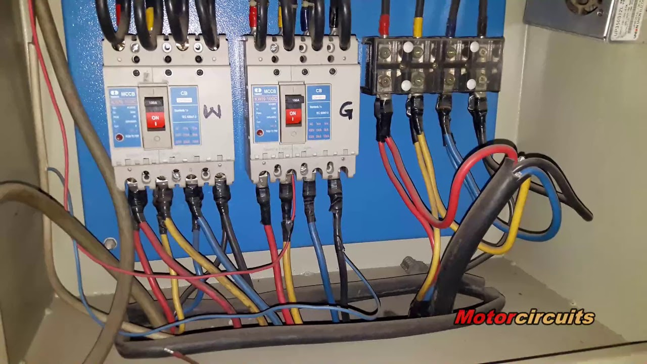 electrical control panel wiring diagram 2006 nissan altima diesel generator auto start and stop circuit with youtube
